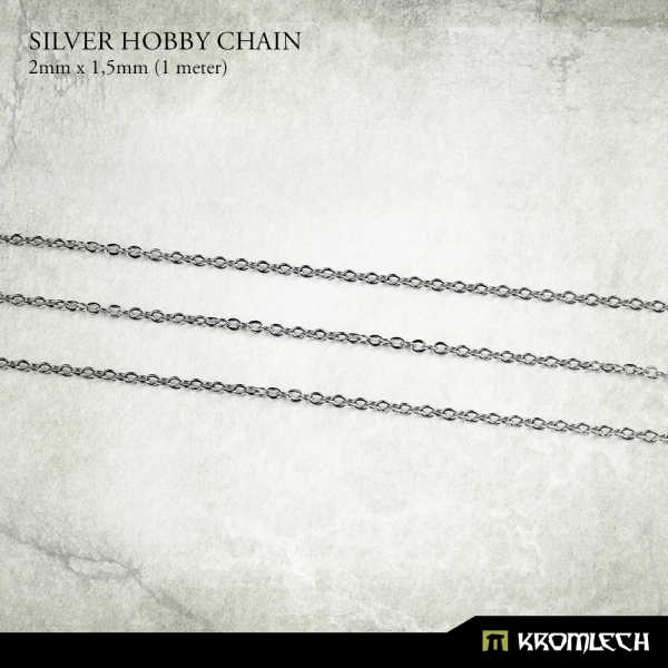 Silver Hobby Chain 2mm x 1,5mm