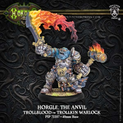 Trollbloods Warlock Horgle the Anvil (Resin)