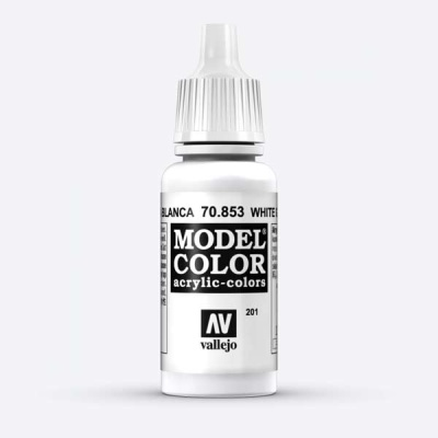 Model Color 201 Lasurweiss (White Glaze) (853)