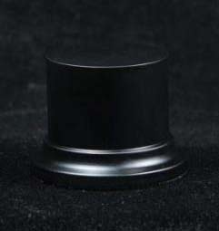 Wooden Base Black round, 52x50mm
