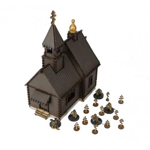 Russian Village - Orthodox Church (Brown)
