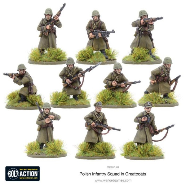 Polish Infantry Squad in Greatcoats