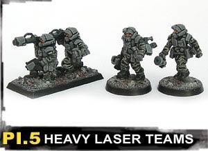 Heavy Laser Teams (moving & firing) (4)