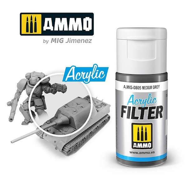 ACRYLIC FILTER Medium Grey (15ml)