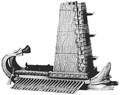 Hellenistic Siege Quinquereme with towers & bolt