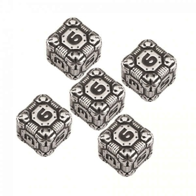 Metal-Black Tech Dice Set D6 (5)
