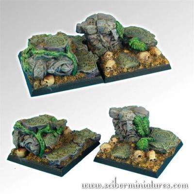 Dwarven Ruins 40mm square bases (2)