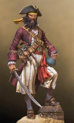 Blackbeard Pirat (54mm)
