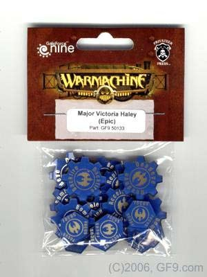 Warcaster Token Set - Cygnar - Epic Major Victoria Haley (OO