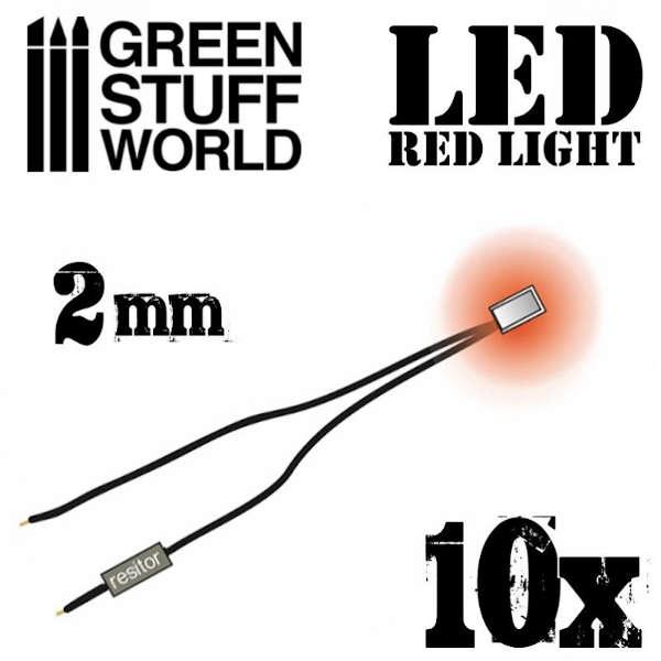 Red LED Lights - 2mm (10)