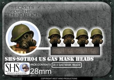 US Gas Mask Heads (20)