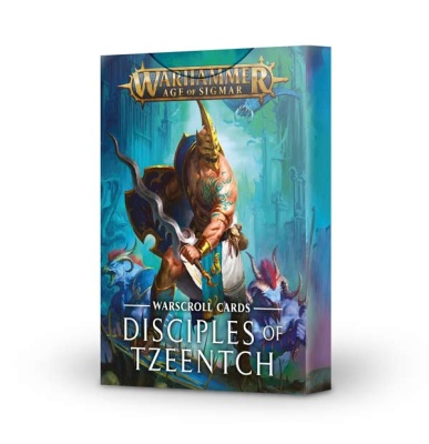 Disciples of Tzeentch Warscroll Cards ENGLISCH
