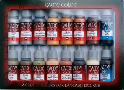 Game Color Set: Leather & Metal Colours (16)