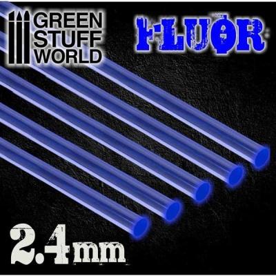 Acrylic Rods - Round 2.4 mm Fluor BLUE (5)