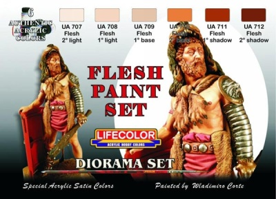 Camouflage Set  Flesh Paint Set