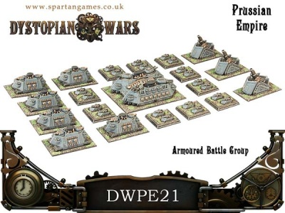 Prussian Empire Armoured Battle Group (20) (OOP)