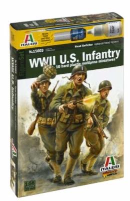 1:56/28mm WW2 US Infantry (10) OOP