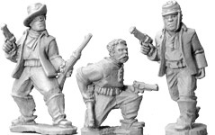 Buffalo Soldiers with Pistols (foot)