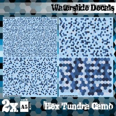 Waterslide Decals - Hex Tundra Camo