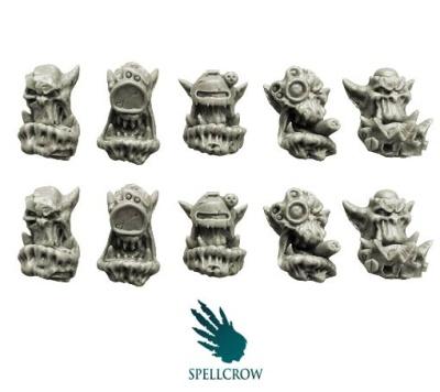 Bulky Orcs Cyber Heads (10)