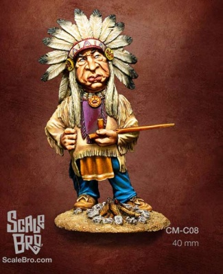 Caricature: Indian Chief (1)