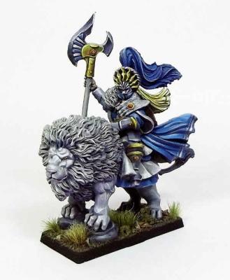 Thirdriel, Elfenheld auf weißem Löwen