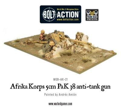 Afrika Korps 5cm PAK38 Anti Tank Gun