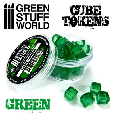 Green Cube tokens GREEN