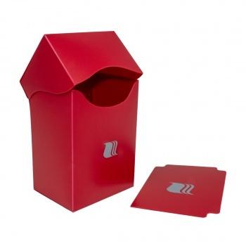 Blackfire Deck Holder Vertical - for 80+ Cards - Red