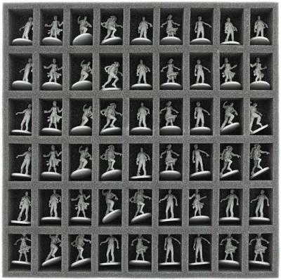 Schaumstoffeinlage mit 54 Fächern für Zombicide Box