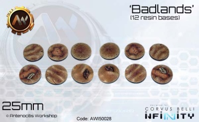 Badlands Bases 25mm (12)