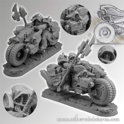 28mm SF Angel Knights Motorcycle #3