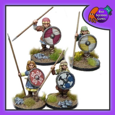 Shieldmaiden Warriors withSpears (4)