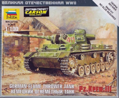 1:100 Wargame AddOn: Pz. Kpfw. III Flamethrower Tank