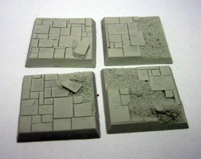 Square Base - Slate Ruins 40mm (4)