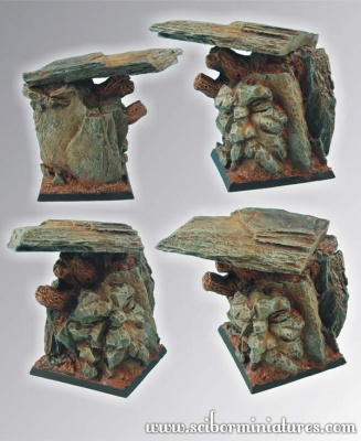Dwarven Mountain 50mm square base (1)