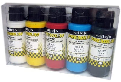 Vallejo Premium: Opaque Basics (Polyu.) (60ml) (5)
