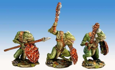 Ridgeback Lizardman Warriors A (set of 3)
