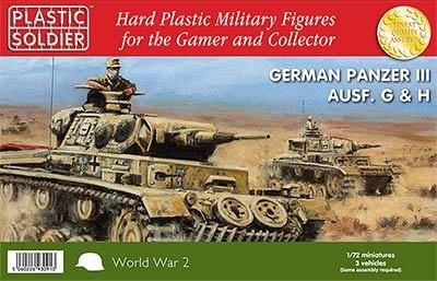 1/72: Panzer III G,H Tank (3)