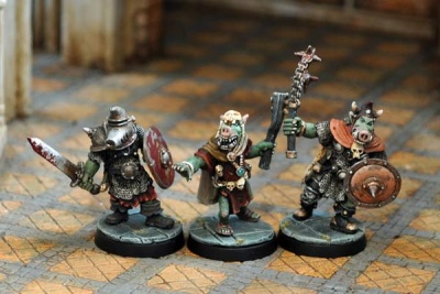 Pig-Faced Orc Command II (3)