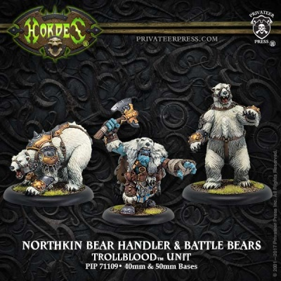Northkin Bear Handler & Battle Bears Unit - Trollbloods (3)