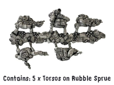 Near Future Infantry torso sprue (5)