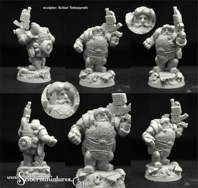 28mm/30mm SF Dwarf Veteran #1 (1)
