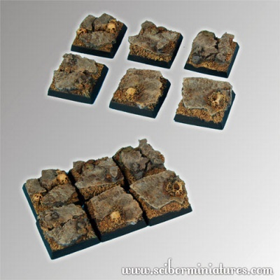 Rocky 20mm square bases