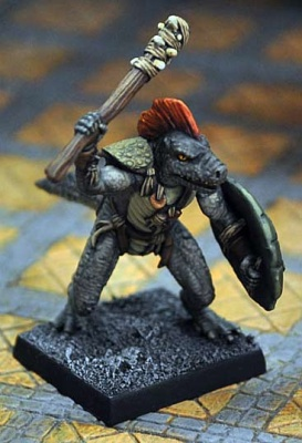 Troglodyte Chieftain with Club and Shield