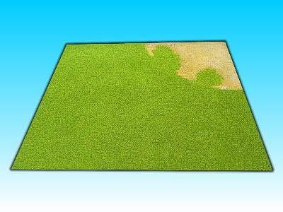Übergangsplatte Wüste/Gras Ecke, 50 x  50 cm