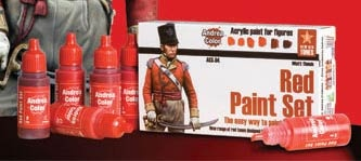 Red paint set (6)