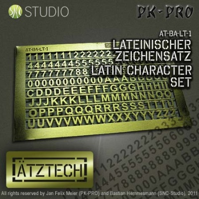 Ätztech Lateinischer Zeichensatz