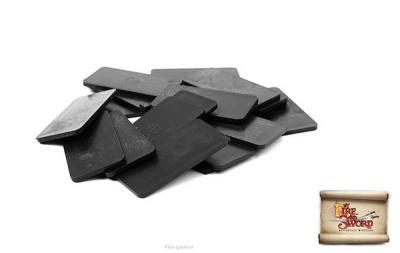 Plastic bases 2x4 cm