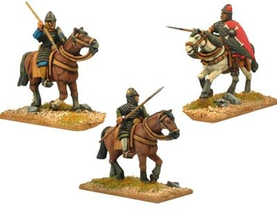 Norman Knight in scale with spears (3 figs)